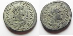Ancient Coins - HUGE FLAN. CHOICE EXAMPLE: PHOENICIA, Tyre. Caracalla. AD 198-217. AR Tetradrachm (29MM. 16.38GM). Struck AD 213-217.