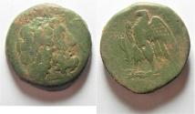 Ancient Coins - GREEK. Ptolemaic Kings. Ptolemy II Philadelphos (285-246 BC). AE 39mm, 43.43g. Sidon mint.