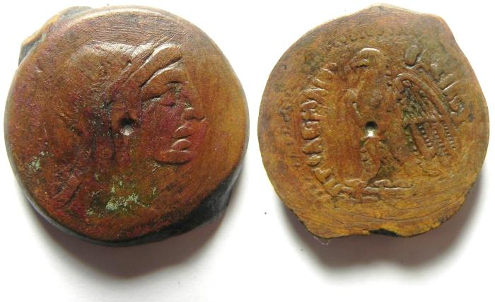 Ancient Coins - VERY NICE PTOLEMY COIN AE 34