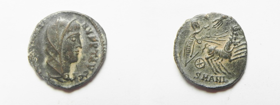 Ancient Coins - BEAUTIFUL: CONSTANTINE I POSTHUMOUS AE 3  . HAND OF GOD