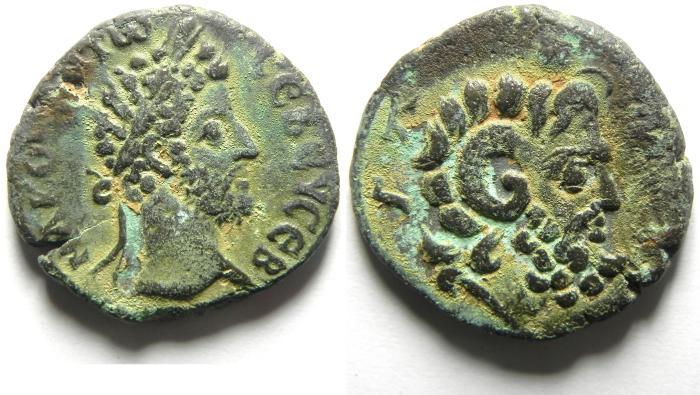 Ancient Coins - EGYPT , ALEXANDRIA , COMMODUS 180 - 192 A.D , BILLON TETRADRACHM , SARAPIS BUST, BEAUTIFULL & VERY ATTRACTIVE