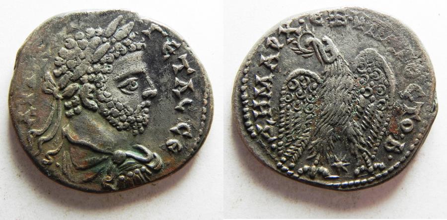 Ancient Coins - SELEUCIS and PIERIA, Laodicea ad Mare. Geta. AD 209-211. AR Tetradrachm