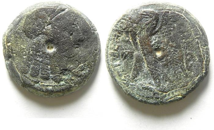 Ancient Coins - Ptolemaic Kingdom. Ptolemy VI Philometor. First reign, 180-164 B.C. Æ 28 , ISIS HEAD