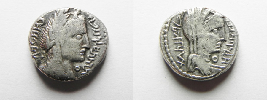 Ancient Coins - An apparently unpublished variety: Nabataean kingdom. Aretas IV (9 BC-AD 40) AR drachm (16mm, 4.12g). Petra mint. Struck in regnal year 14 (AD 5/6).