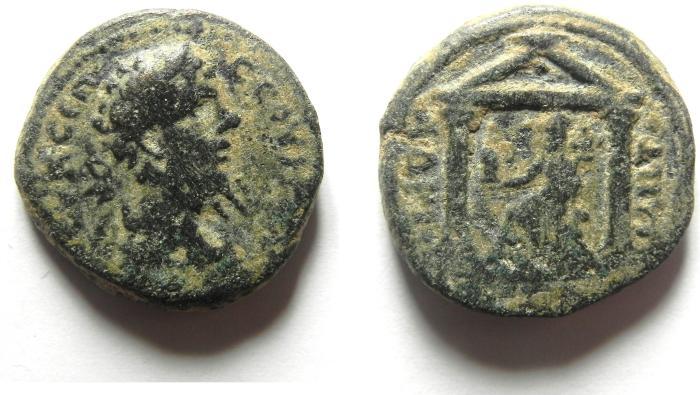Ancient Coins - ARABIA . PETRA , SEPTIMIUS SEVERUS AE 22