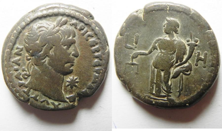 Ancient Coins - EGYPT, Alexandria. Trajan. Billon Tetradrachm