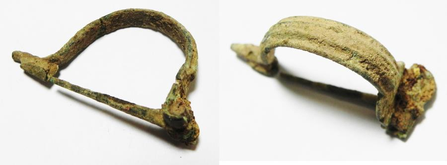 Ancient Coins - ANCIENT ROMAN BRONZE FIBULA. 100 - 200 A.D