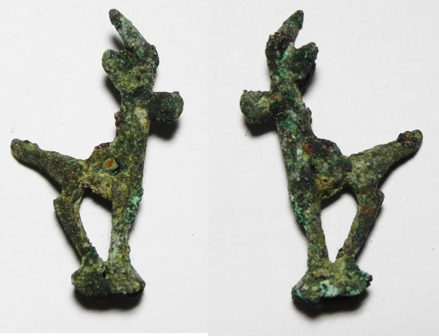 Ancient Coins - ANCIENT HOLY LAND. PERSIAN RULE. BRONZE GOAT. 600 B.C