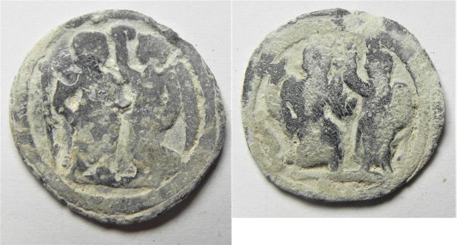 Ancient Coins - Egypt. Alexandria. Second-third centuries AD. Lead tessera (18mm, 2.34g).