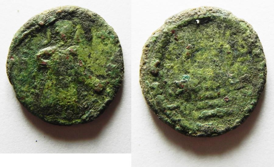 World Coins - ARAB-BYZANTINE AE FALS. AMMAN MINT. AS FOUND