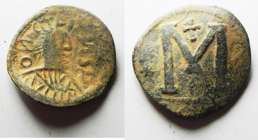 Ancient Coins - RARE BARBARIC IMITATION OF A BYZANTINE FOLLIS