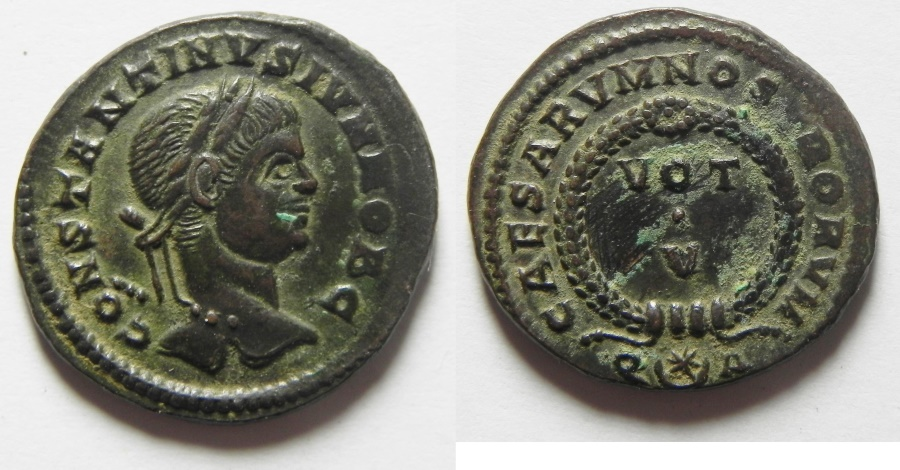 Ancient Coins - BEAUTIFUL CONSTANTINE II AE 3 , ROME MINT