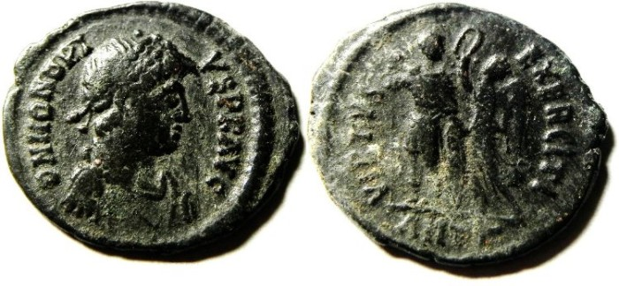 Ancient Coins - HONORIUS AE 3