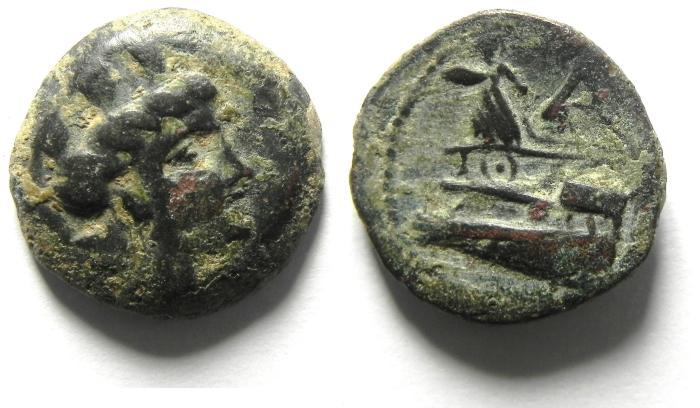 Ancient Coins - Phoenicia, Arados. Ca. 176/5 B.C.-A.D ae 17