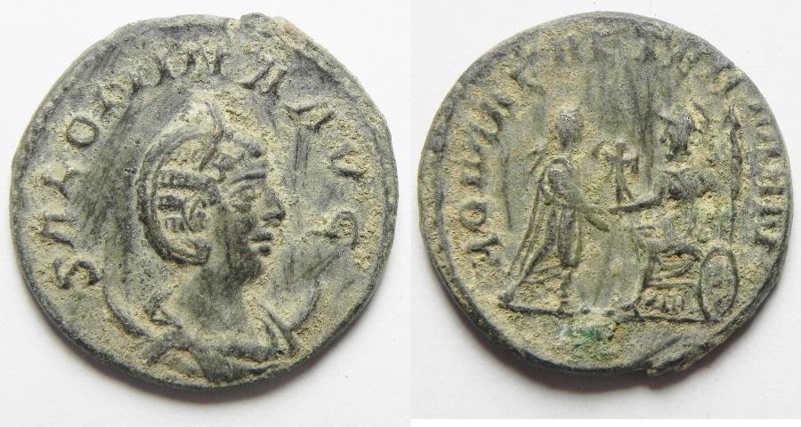 Ancient Coins - ROMAN IMPERIAL, CHOICE BILLON ANTONINIANUS OF SALONINA , NEAR MINT STATE
