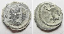 ANTINOOS: Egypt. Alexandria. Second-third centuries AD. Lead tessera (19mm, 3.73g).