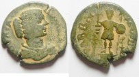 Ancient Coins - Apparently unpublished variety. Arabia. Rabbathmoba under Julia Domna (AD 193-211). AE 27mm