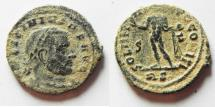 Ancient Coins - AS FOUND LICINIUS I AE FOLLIS, ROME MINT