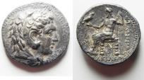 Ancient Coins - CHOICE COIN AS FOUND: GREEK, Kings of Macedon. Philip III Arrhidaios (323-317 BC). AR tetradrachm (27mm, 17.11g). Babylon mint. Struck under Archon, Dokimos, or Seleukos I, c. 323-