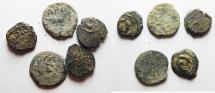 Ancient Coins - LOT OF 5 JUDAEAN AE PRUTOT. NICE STARTER GROUP