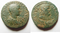 Ancient Coins - Very Attractive Coin: Samaria. Neapolis under Philip II (AD 247-249). AE 28mm, 13.23g.