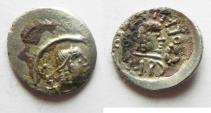 Ancient Coins - An extremely rare Half Unit: South Arabia. Himyarite kingdom. AR half unit (13mm, 0.88g). Raydan mint.