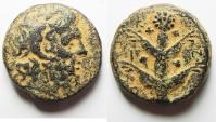 Ancient Coins - GREEK. Cyrenaica. Cyrene. Koinon issue c. 250 BC. AE 23mm, 13.27g.