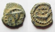 Ancient Coins - HIGH QUALITY FOR THE TYPE: Judaea, Herod I Archelaus AE LEPTON (HALF PRUTAH), 4 B.C. - 6 A.D.