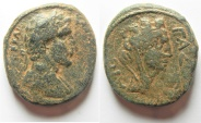 Ancient Coins - Judaea. Gaza under Antoninus Pius (AD 138-161). AE 28mm, 24.10g. Struck in civic year 211(AD 150/1).