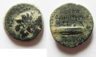 Ancient Coins - SELEUKID KINGS of SYRIA. Demetrios II Nikator. First reign, 146-138 BC. Tyre mint. AE 18