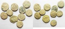 Ancient Coins - ROMAN LOT OF 10 AE 4s. AS FOUND. NICE LIGHT DESERT PATINA