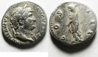 Ancient Coins - HADRIAN SILVER DENARIUS , NICE QUALITY