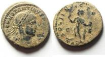Ancient Coins - CONSTANTINE I AE FOLLIS , NICE AS FOUND , ARLES MINT