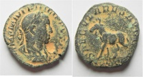 Ancient Coins - ROMAN IMPERIAL. Philip II (AD 244-249). AE sestertius (29mm, 15.68g). Rome mint. Struck AD 248.