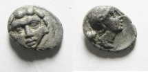 Ancient Coins -  GREEK. Pisidia. Selge. AR obol (10mm, 0.97g). Struck c. 350-300 BC.