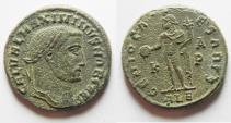Ancient Coins - MAXIMINUS II AE FOLLIS. ALEXANDRIA. AS FOUND