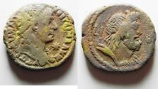 Ancient Coins - EGYPT. ALEXANDRIA. TRAJAN BILLON TETRADRACHM