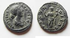 Ancient Coins - BEAUTIFUL FAUSTINA JUNIOR SILVER DENARIUS