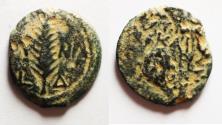 Ancient Coins - Judaea. Roman Procurators. Valerius Gratus (AD 15-26). Æ prutah