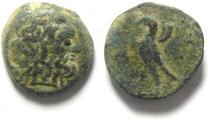 Ancient Coins - PTOLEMAIC KINGDOM , PTOLEMY II AE 19 , RARE SIDON OR AKE MINT