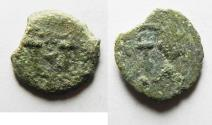 Ancient Coins - JUDAEA. HEROD I THE GREAT AE PRUTAH