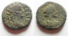 Ancient Coins - AS FOUND. SCARCE:  Egypt. Alexandria under Nero (AD 54-68). Billon tetradrachm (24mm, 13.30g). Struck in regnal year 13 (AD 66/67).