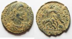 Ancient Coins - CHOICE AS FOUND CONSTANTIUS II AE CENT. ALEXANDRIA MINT