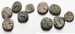 Ancient Coins - LOT OF FIVE: PHOENICIA. Sidon. `Abd`aštart (Straton) I. Circa 365-352 BC. AR Sixteenth Shekel