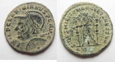 Ancient Coins - VERY RARE. AS FOUND: Maximianus, 2nd Reign, AE Follis.