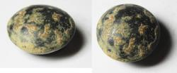 Ancient Coins - VERY RARE JUDAEAN DOME SHAPED HEMATITE WEIGHT. 1 1/2 QEDET. 1100 - 900 B.C
