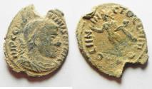 Ancient Coins - AS FOUND CONSTANTINE I AE FOLLIS. ROME MINT