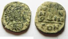 Ancient Coins - BYZANTINE: Justinian I AE Decanummium, 527 - 565 AD