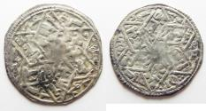 Ancient Coins - RASSIDS OF YEMEN. SILVER DERHIM. 7th CENTURY AH. HUTH MINT. 616 A.H