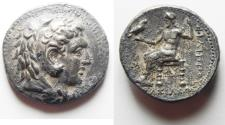 Ancient Coins - CHOICE COIN AS FOUND: GREEK, Kings of Macedon. Philip III Arrhidaios (323-317 BC). AR tetradrachm (27mm, 17.11g). Babylon mint. Struck under Archon, Dokimos, or Seleukos I, c. 323-